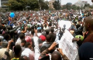 Protests against Ethiopian human rights record