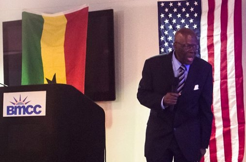 Prof. Humphrey Nwosu at a Public Lecture hosted by Center for Media & Peace Initiatives and Africa Students Union, Borough of Manhattan Community College, City University of New York