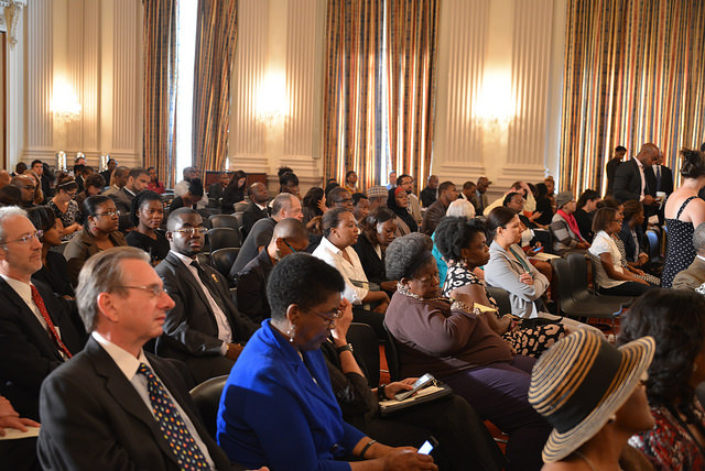 Cross section of the audience at the Africa Policy Breakfast Series in Washington DC