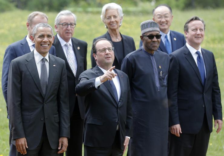 Nigeria's Muhammadu Buhari with other world leaders