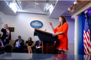"Press secretary's dilemma under Trump's ""fake news"" bubble"